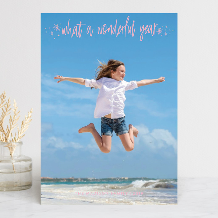 """It's Wonderful"" - Holiday Photo Cards in Frost by Sarah Brown."