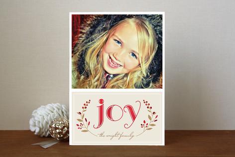 Serene Joy Holiday Photo Cards