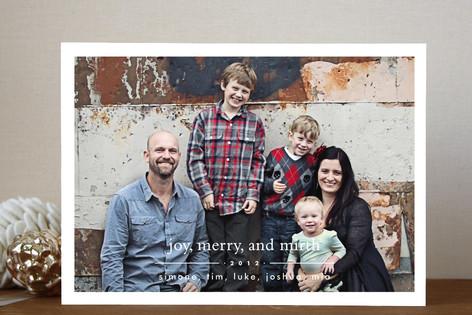 Joy Merry Mirth Holiday Photo Cards