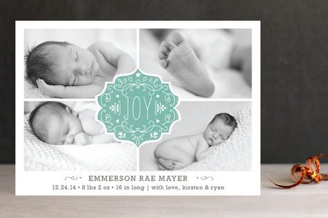 Festive Baby Holiday Photo Cards