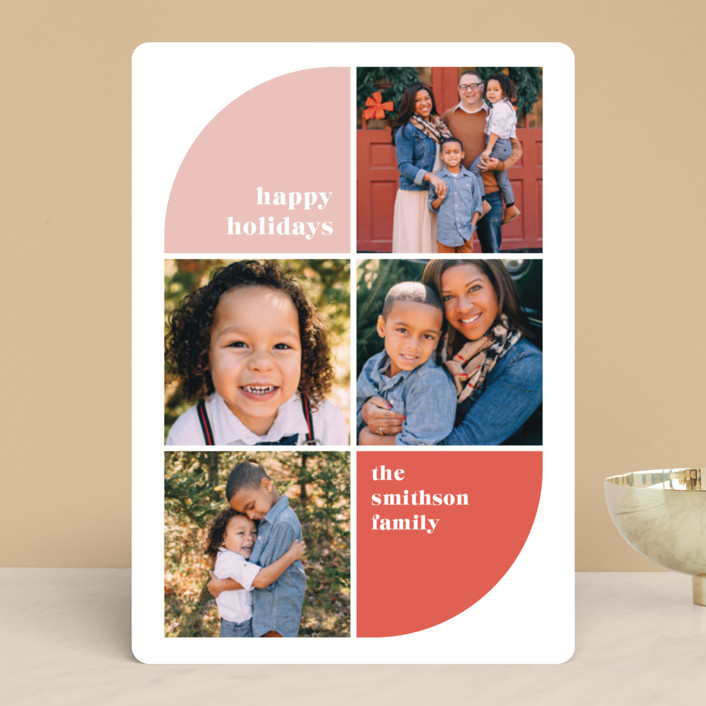 """""""Corner Curve"""" - Holiday Photo Cards in Petal by Ella Weaver."""