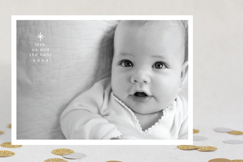Us and the Baby Holiday Photo Cards