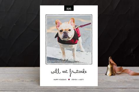 Fruitcake Holiday Photo Cards