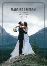Married and Merry Holiday Photo Cards By Sara Hicks Malone