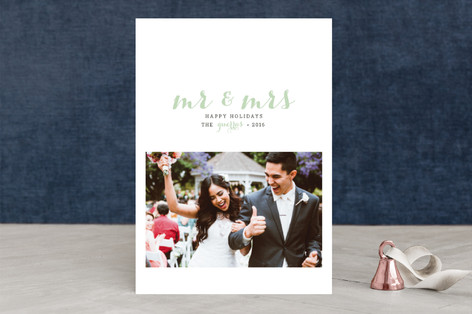 First Holiday as Mr. and Mrs Holiday Photo Cards