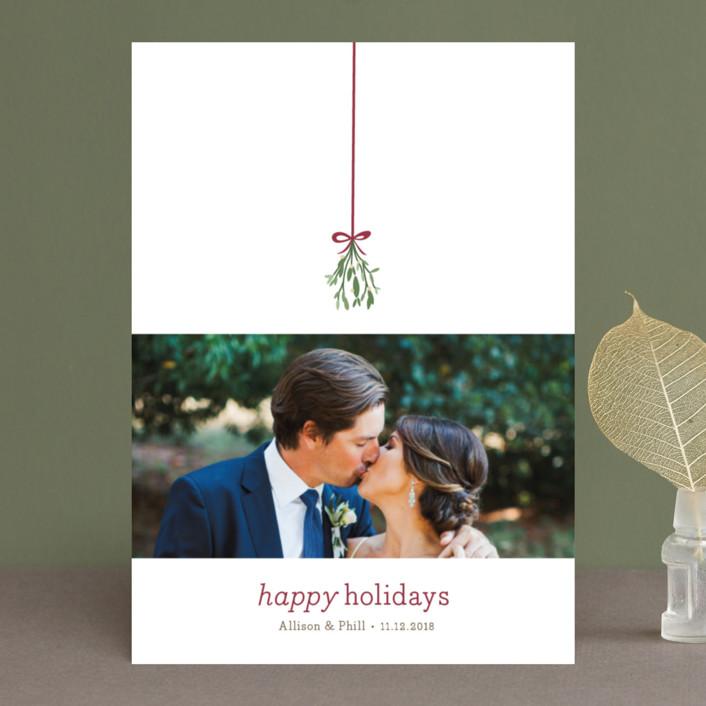 """Mistletoe Kiss"" - Holiday Photo Cards in Holly by Roxy Cervantes."