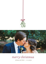 Mistletoe Kiss Holiday Photo Cards By roxy