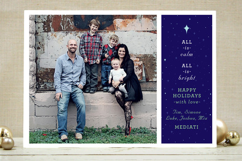 All is Calm and Bright Holiday Photo Cards