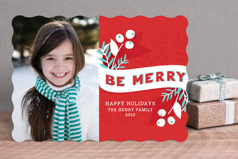 Be Merry Berries Holiday Photo Cards