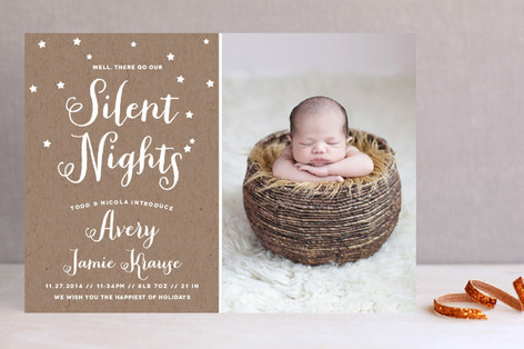 Well, There Go Our Silent Nights Holiday Photo Cards
