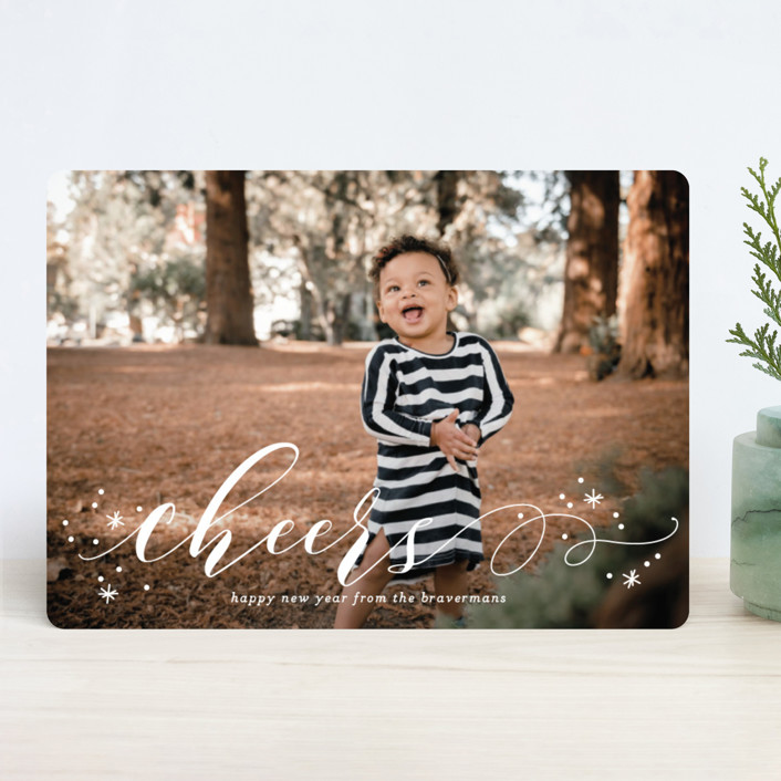 """""""Jubilant"""" - Holiday Photo Cards in Snowfall by Jessica Williams."""