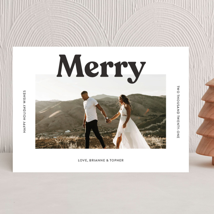 """""""Merry Color Overlay"""" - Holiday Photo Cards in Snowflake by Chryssi Tsoupanarias."""