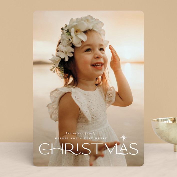 """""""Star light"""" - Holiday Photo Cards in Snow by Lauren Chism."""