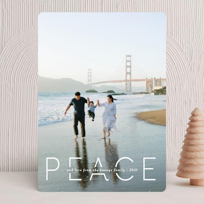 """""""Quietude"""" - Holiday Photo Cards in Glacier by Rebecca Daublin."""