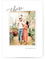 This is a brown holiday photo card by Wildfield Paper Co. called Classic Joy with standard printing on smooth signature in standard.