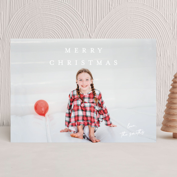 """""""Signed With Love"""" - Holiday Photo Cards in Linen by Kasia Labocki."""
