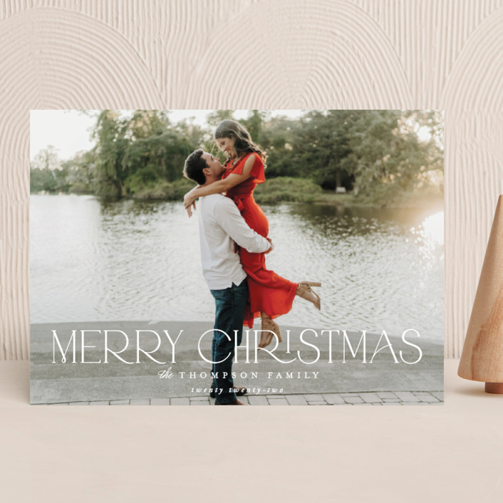 """""""Sutton"""" - Holiday Photo Cards in Snow by Robert and Stella."""