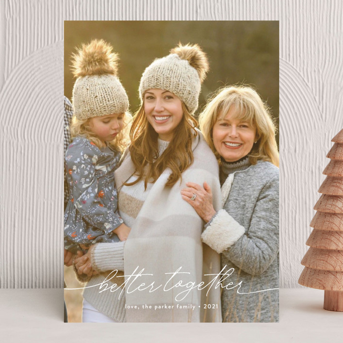 """""""Together Forever"""" - Holiday Photo Cards in Snow by Robin Ott."""