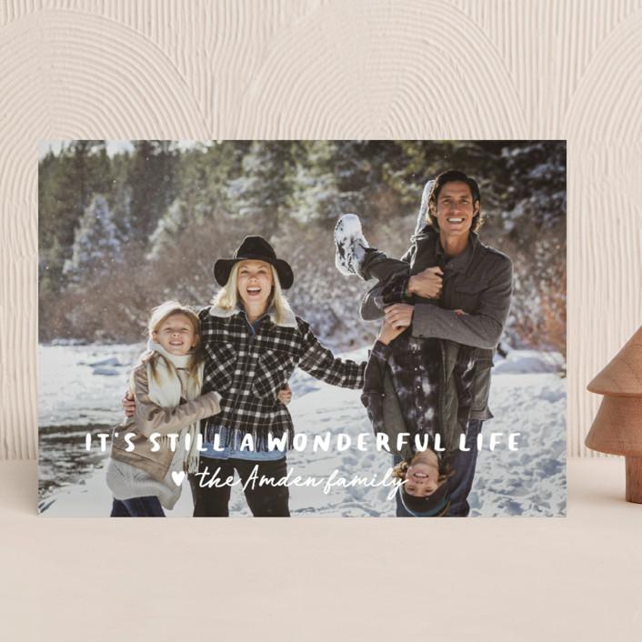 """still wonderful"" - Holiday Photo Cards in Snow by Sara Hicks Malone."