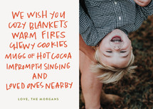 Cozy Blankets Holiday Photo Cards By Annie Montgomery