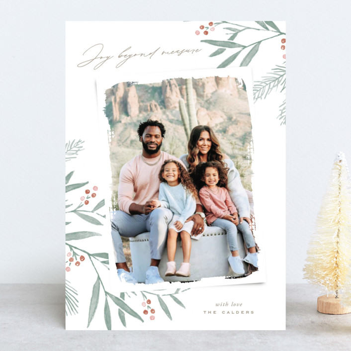 """Organic Harmony"" - Holiday Photo Cards in Rust by Oscar & Emma."