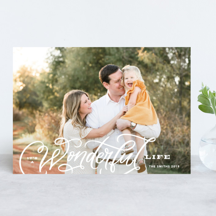 """""""Wonderful Entwined"""" - Holiday Photo Cards in Snow by Kristen Smith."""
