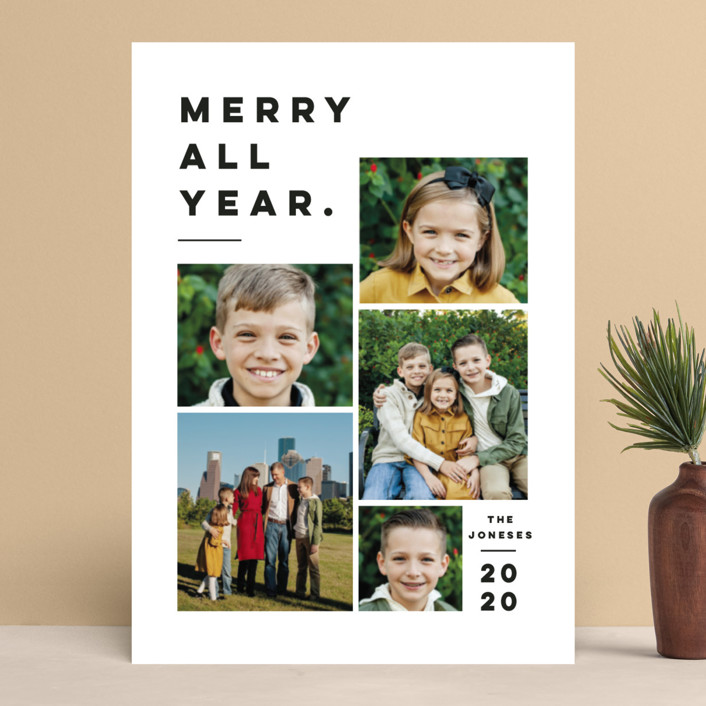 """Merry All Year."" - Holiday Photo Cards in Penguin by Pink House Press."