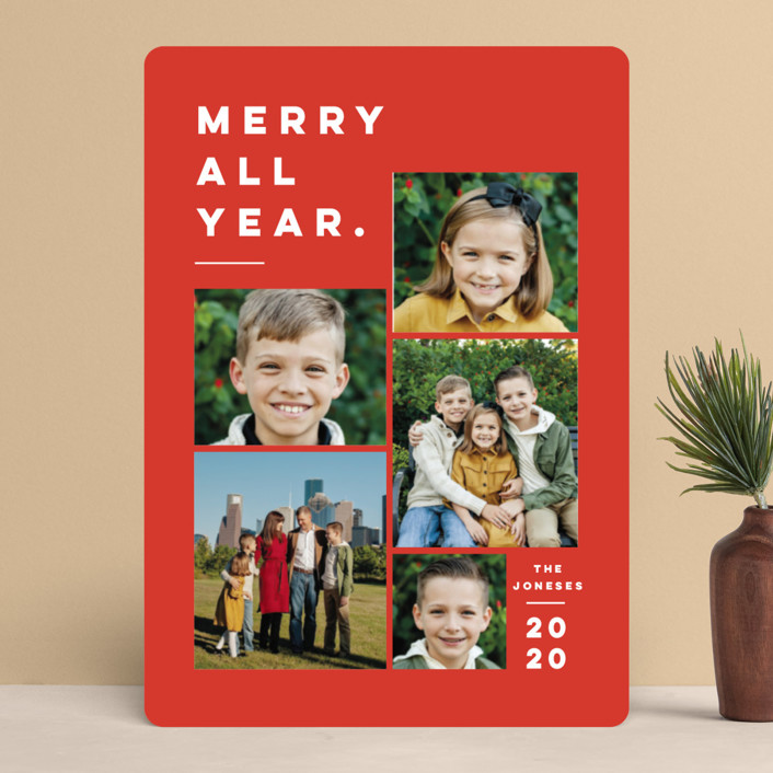 """Merry All Year."" - Holiday Photo Cards in Ivory by Pink House Press."