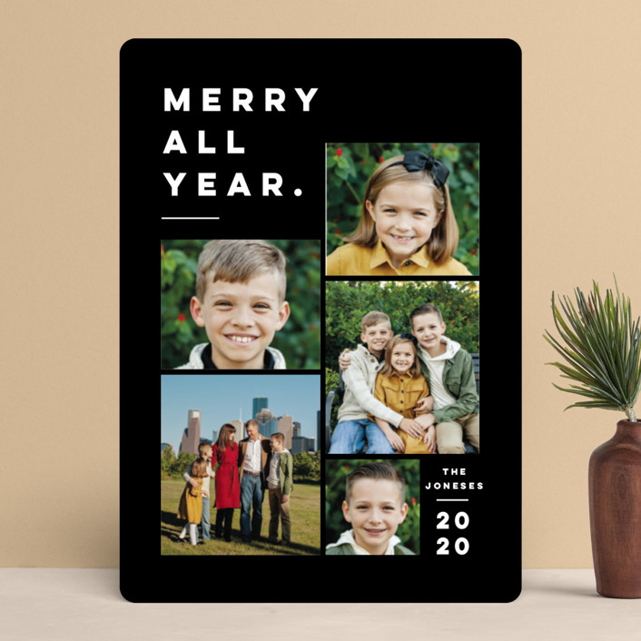 """""""Merry All Year."""" - Holiday Photo Cards in Ivory by Pink House Press."""