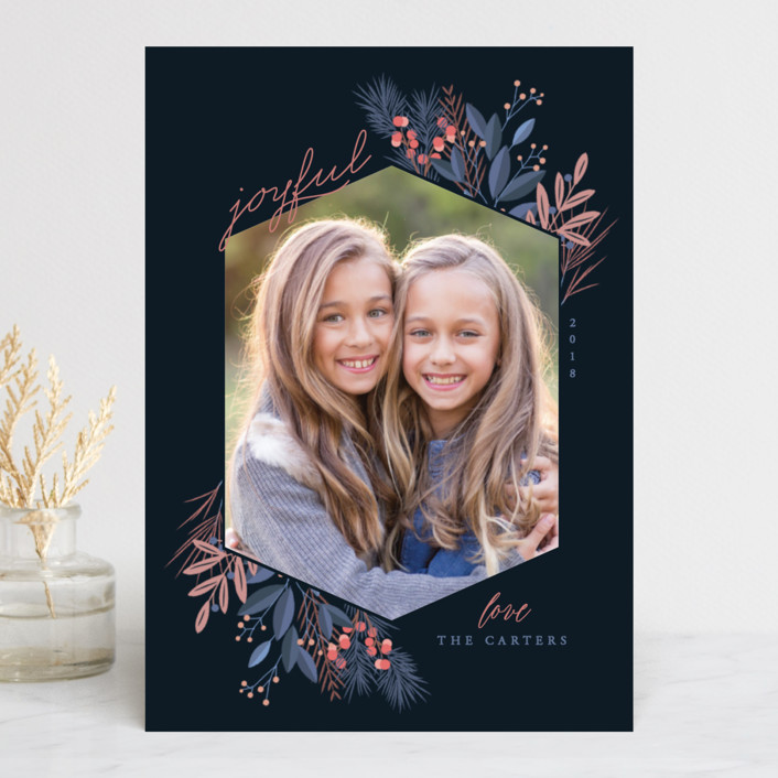 """jewel"" - Holiday Photo Cards in Peacock by curiouszhi design."