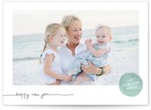 Frosted Watercolor Holiday Photo Cards