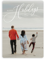 This is a white holiday photo card by Melanie Kosuge called Sweeping with standard printing on smooth signature in standard.