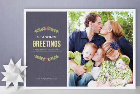 Christmas Wreath Holiday Photo Cards