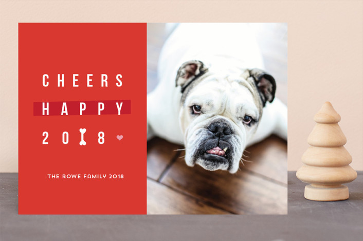 """Happy happy Howlidays"" - Funny Holiday Photo Cards in Vermilion by Anupama."