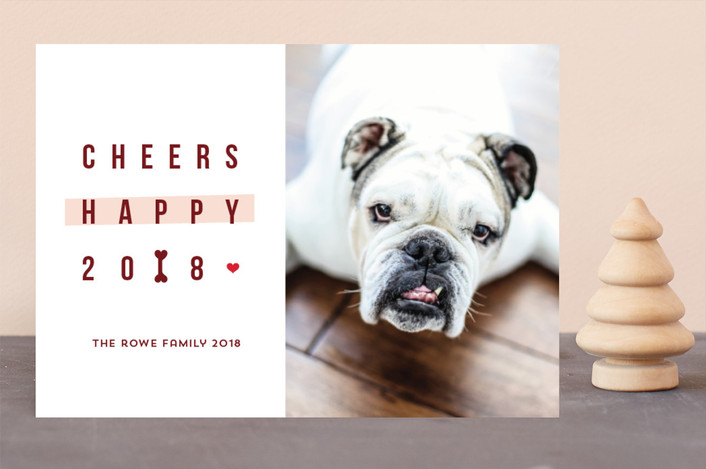 """""""Happy happy Howlidays"""" - Funny Holiday Photo Cards in Vermilion by Anupama."""