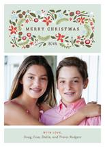 Blushing Christmas Holiday Photo Cards By Jennifer Wick