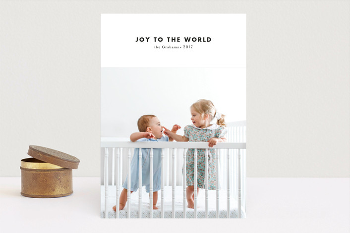 """""""modern & joy"""" - Holiday Photo Cards in Berry by Loren Willis."""