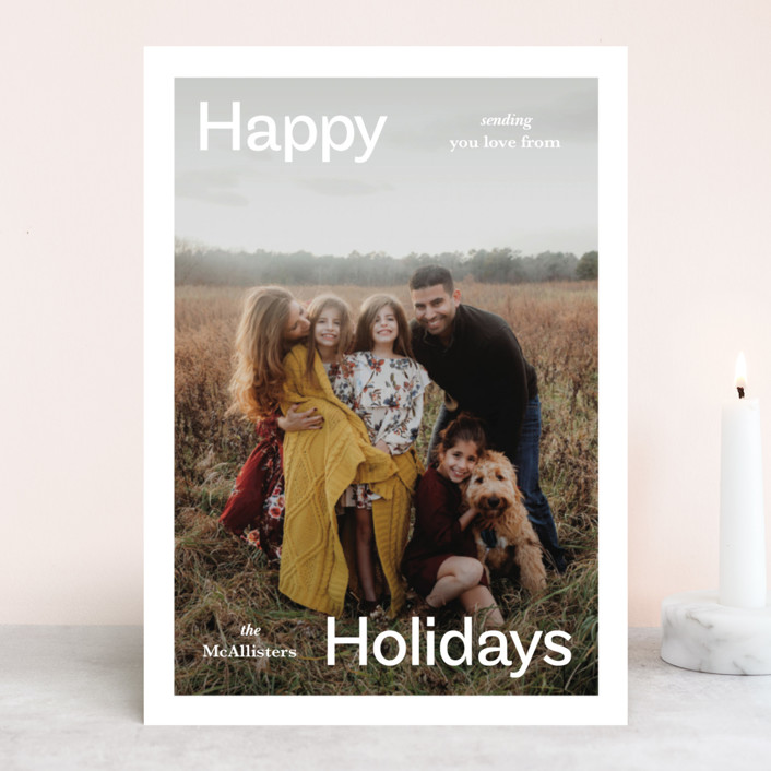 """Ad"" - Holiday Photo Cards in Frost by Jack Knoebber."