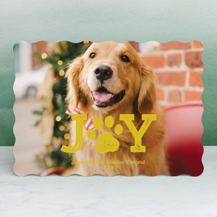 """""""Paw Print"""" - Holiday Photo Cards in Ivory by Lea Delaveris."""