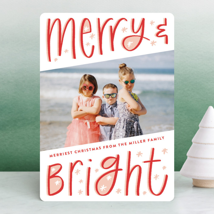 Fun Merry and Bright Holiday Photo Cards by Up Up Creative | Minted