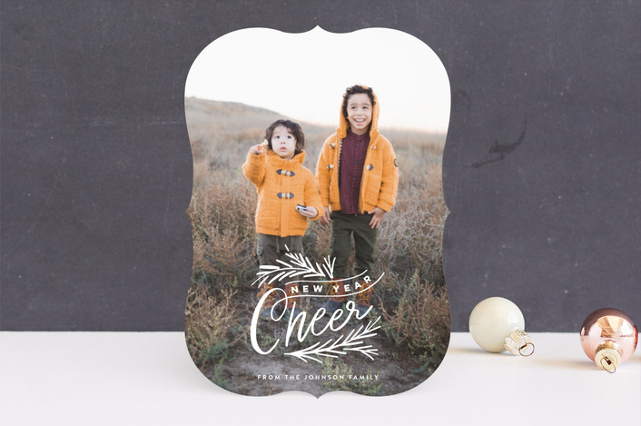 """""""Cheer Branches"""" - Vintage Holiday Photo Cards in Frost by Alethea and Ruth."""