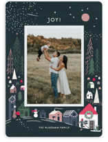 This is a blue holiday photo card by Morgan Ramberg called Cozy winter with standard printing on smooth signature in standard.