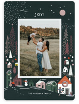 This is a green holiday photo card by Morgan Ramberg called Cozy winter with standard printing on smooth signature in standard.