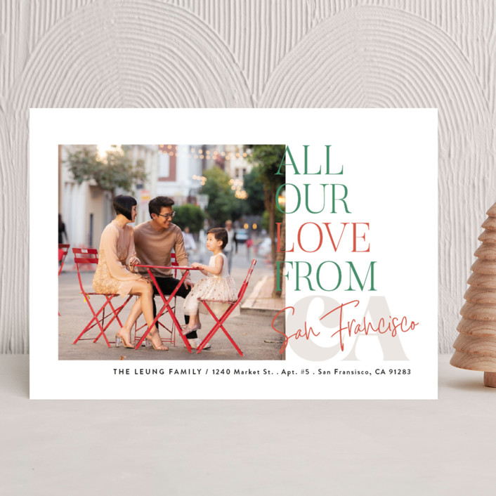 """""""All Our Love Location"""" - Holiday Photo Cards in Ice by Alethea and Ruth."""