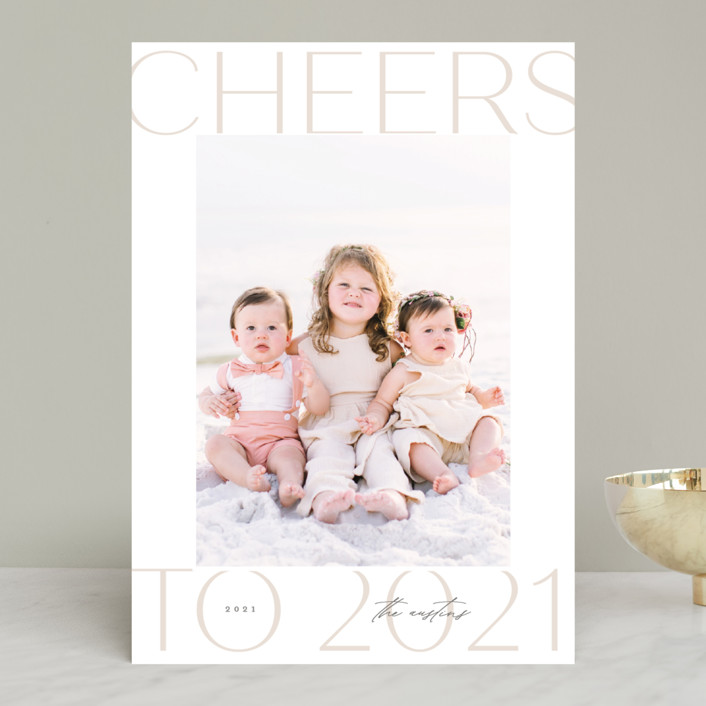 """""""Soft Light"""" - Holiday Photo Cards in Sand by Lauren Chism."""