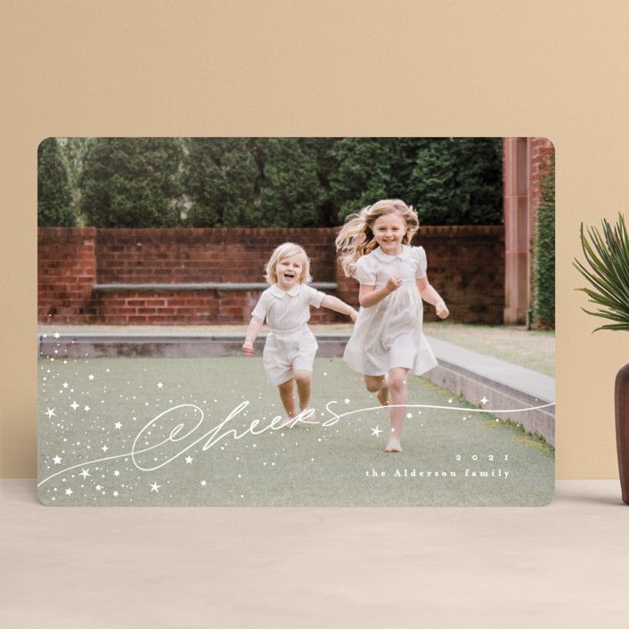 """Stardust"" - Bohemian Holiday Photo Cards in Snow by Anastasia Makarova."