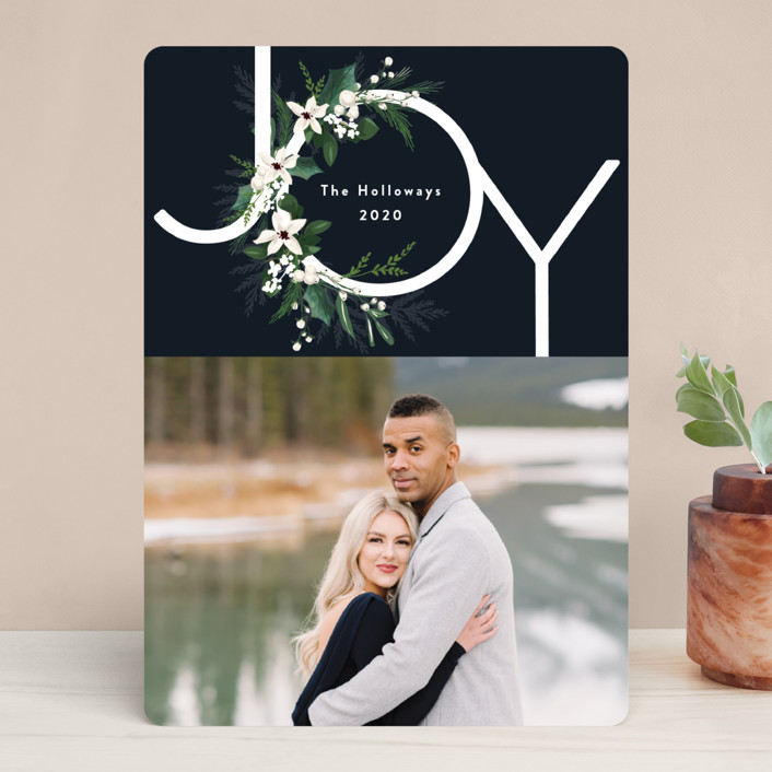 """Joy & Greenery"" - Holiday Photo Cards in Juniper by Susan Moyal."
