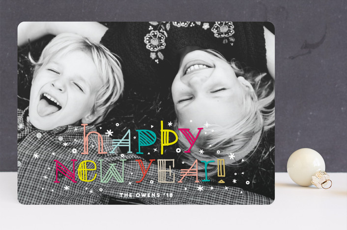 """""""Colorful Happy Everything"""" - Modern Holiday Photo Cards in Rainbow by fatfatin."""
