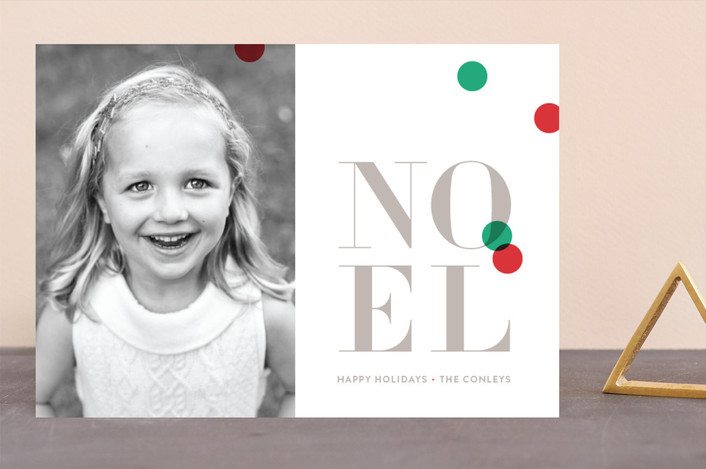 """Bright confetti"" - Holiday Photo Cards in Cranberry by kelli hall."