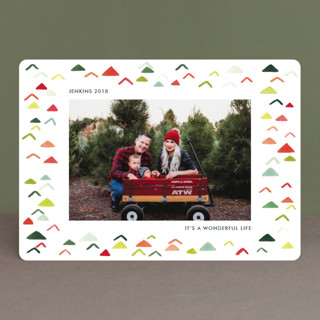 Holiday card envelope